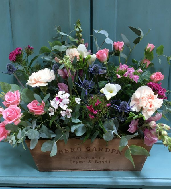 Crate of flowers
