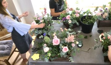 People learning floristry